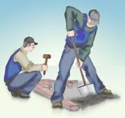 бригада подсобных рабочих-грузчиков предлагает услуги.